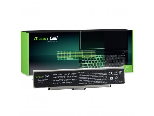 Batéria pre laptopy Green Cell Cell® VGP-BPS9B VGP-BPS9 pre SONY VAIO VGN-AR570 CTO VGN-AR670 CTO VGN-AR770 CTO
