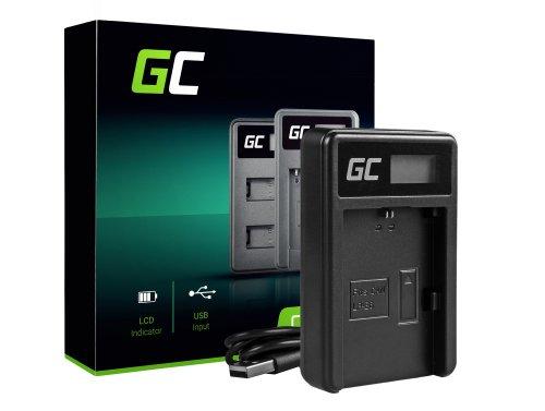 Nabíjačka batérií pre fotoaparáty LC-E6 Green Cell Cell® pre Canon LP-E6, EOS 70D, 5D Mark II / III, 80D, 7D Mark II, 60D, 6D, 7