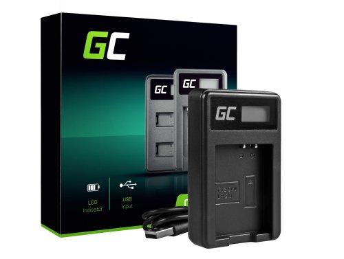 Nabíjačka batérií pre fotoaparáty LC-E10 Green Cell Cell® pre LP-E10, EOS Rebel T3, T5, T6, Kiss X50, Kiss X70, EOS 1100D, EOS 1