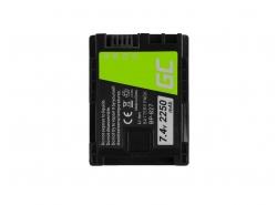 Bateria Green Cell ® BP-807 / BP-827 do Canon VIXIA HF G10 HF G20 HF M30 HF M3 HF M32 HF M40 HF M300 XA10 7.4V 2250mAh