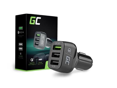 3 USB nabíjačka do auta s rýchlym nabíjaním Green Cell
