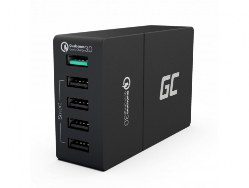 Univerzálna nabíjačka Green Cell Cell® s funkciou rýchleho nabíjania, 5 portov USB, QC 3.0