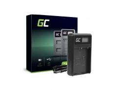 Kamera Akku-Ladegerät BCH-1 Green Cell ® für Olympus BLH-1, OM-D E-M1 Mark II, Grip HLD-9