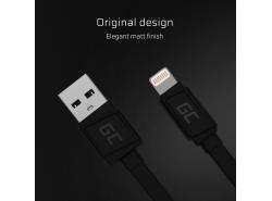 Kabel GCmatte Lightning Flach 25 cm mit Apple 2.4A Schnellladungsunterstützung