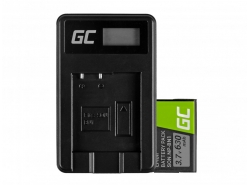 Green Cell ® Akku NP-BN1 und Ladegerät BC-CSN für Sony Cyber-Shot DSC-QX10 DSC-QX100 DSC-TF1 DSC-TX10 DSC-W530