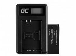 Green Cell ® Batéria LP-E12 a nabíjanie zariadení LC-E12 pre Canon EOS M100, EOS100D, EOS M EOS M2, M10 EOS Rebel SL1