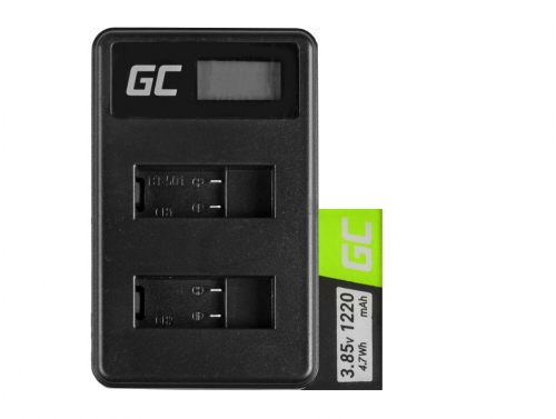 Green Cell batérie ® a nabíjačka AHDBT-501 AABAT-001 pre GoPro HD HERO5 HERO6 HERO7 Black 3.85V 1220mAh