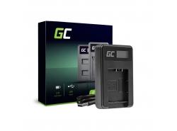 Kamera Akku-Ladegerät DE-A65BB Green Cell für Panasonic DMW-BCG10 Lumix DMC-TZ10 DMC-TZ20 DMC-TZ30 DMC-ZS5 DMC-ZS10 DMC-ZX1