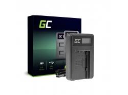 Kamera Akku-Ladegerät VW-BC10 Green Cell für Panasonic VW‑VBT190 HC-250 HC-V130 HC-V510 HC-V770 HC-W580 HC-WX970