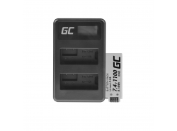 Batéria Green Cell Cell® LP-E8 a nabíjačka LC-E6 pre Canon PowerShot G15 G16 G1X G3X SX40 HS SX40HS SX50 HS SX60 HS 7,4 V 800 mA