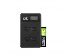 Green Cell ® Akku NP-BX1 und Ladegerät BC-TRX  für Sony Action Cam HDR-AS10 HDR-AS20 HDR-AS300 HDR-AS50 FDR-X1000V