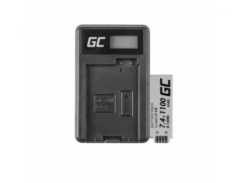 Batéria Green Cell Cell® LP-E8 a nabíjačka LC-E8 pre Canon Rebel T2i, T3i, T4i, T5i, EOS 600D, 550D, 650D, 700D, Kiss X5, X6