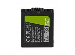 Green Cell ® Akku DMW-BMA7/CGA-S006 für Panasonic DMC FZ35, FZ7, FZ8, FZ18, FZ30, FZ50 7.4V 700mAh