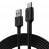 Kábel Green Cell GC PowerStream USB-A-USB-C 200 cm, rýchle nabíjanie Ultra Charge, QC 3.0