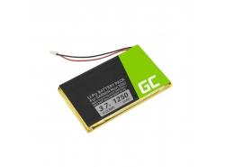 Batérie Green Cell ® IA2B309C4B32 pre GPS Garmin Nuvi 300 310 350 360 360T 370 Navgear Streetmate GP-43, Li-Polymer 1250mAh 3.7V