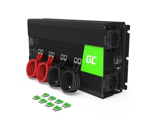 Menič 24V, 230V, invertor striedavého napätia Green Cell ® 2000W / 4000W