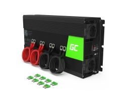 Menič 24V, 230V, invertor striedavého napätia Green Cell ® 1000W / 2000W