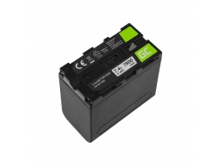 Akumulátorová batéria Green-cell NP-F960 NP-F970 NP-F975 pre Sony 7,4 V 7800 mAh