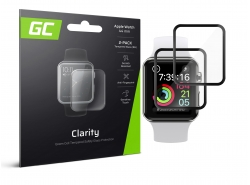 2x GC Clarity Tvrdené sklo pre Apple Watch 4/5 44mm
