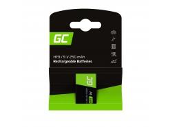 Batéria 1x 9V HF9 Ni-MH 8000mAh Green Cell