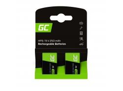 Batéria 2x 9V HF9 Ni-MH 8000mAh Green Cell