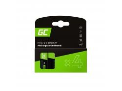Batéria 4x 9V HF9 Ni-MH 8000mAh Green Cell