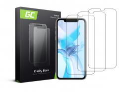 3x Ochranné sklo GC Clarity pre Apple iPhone 11 / iPhone XR GC Clarity z tvrdeného skla chráni tvrdosť 9H