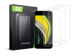 3x Ochranné sklo GC Clarity pre Apple iPhone SE 2020 / 6 / 6S / 7 / 8 GC Clarity z tvrdeného skla chráni