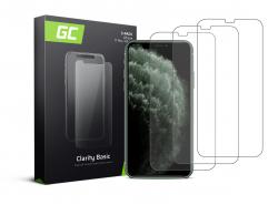 3x Ochranné sklo GC Clarity pre Apple iPhone X / XS / 11 Pro GC Clarity z tvrdeného skla chráni