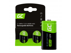 Batérie 2x C R14 HR14 Ni-MH 1,2V 4000mAh Green Cell