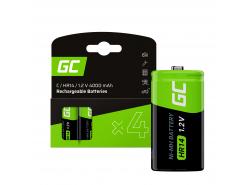 Batéria 4x C R14 HR14 Ni-MH 1,2V 4000mAh Green Cell