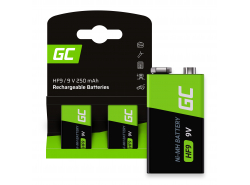 Batéria 2x 9V HF9 Ni-MH 250mAh Green Cell