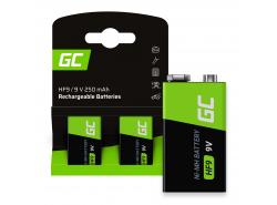 Green Cell Batéria 2x 9V HF9 Ni-MH 250mAh