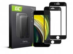 2x Ochranné sklo GC Clarity z tvrdeného skla pre Apple iPhone 7 / 8 - čierne