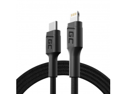 Green Cell Stream USB-C - Bleskový kábel 100 cm s podporou dodávky Pover (certifikovaný Apple MFi)