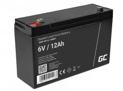 Green Cell® AGM 6V 12Ah akumulátorová bezúdržbový akumulátor hračky Výstražné systémy hračkárske vozidlo