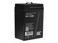 Green Cell® AGM 6V 4.5Ah akumulátorová bezúdržbový akumulátor hračky Výstražné systémy hračkárske vozidlo