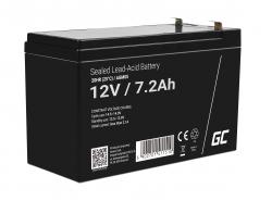Green Cell® AGM 12V 7.2Ah akumulátorová bezúdržbový akumulátor hračky Výstražné systémy hračkárske vozidlo