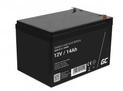 Green Cell® AGM 12V 14Ah akumulátorová bezúdržbový akumulátor hračky Výstražné systémy hračkárske vozidlo