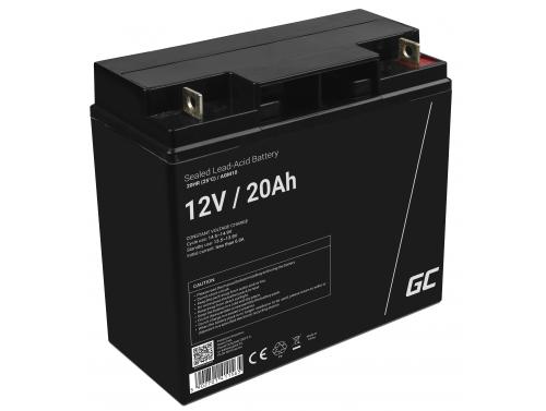 Green Cell® AGM 12V 20Ah akumulátorová bezúdržbový akumulátor kosačka skúter čln Traktorová kosačka