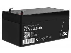 Green Cell® AGM 12V 3.3Ah akumulátorová bezúdržbový akumulátor hračky Výstražné systémy hračkárske vozidlo
