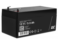 Green Cell ® Gel Batterie AGM VRLA 12V 3.3Ah
