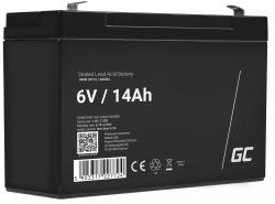 Green Cell Cell® Batterie AGM VRLA 6V 14Ah