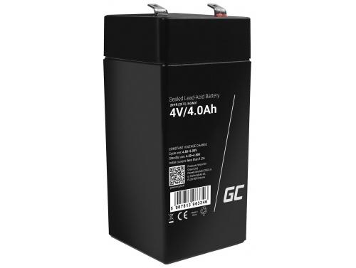 GreenCell® AGM 4V 4Ah akumulátorová bezúdržbový akumulátor hračky Výstražné systémy hračkárske vozidlo