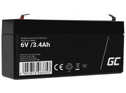 Green Cell Cell® Batterie AGM VRLA 6V 3.4 Ah
