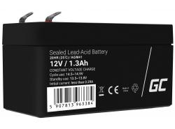 Green Cell Cell® Batterie AGM VRLA 12V 1.3 Ah