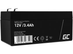 Green Cell Cell® Batterie AGM VRLA 12V 3.4 Ah
