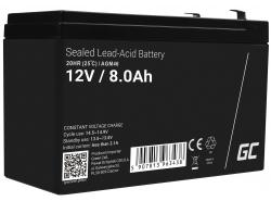 Green Cell Cell® Batterie AGM VRLA 12V 8Ah