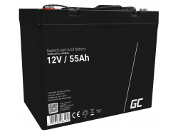 Green Cell Cell® Batterie AGM VRLA 12V 55AH