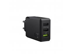 Nabíjačka GC ChargeSource 3 3xUSB 30 W s technológiou rýchleho nabíjania Ultra Charge a Smart Charge